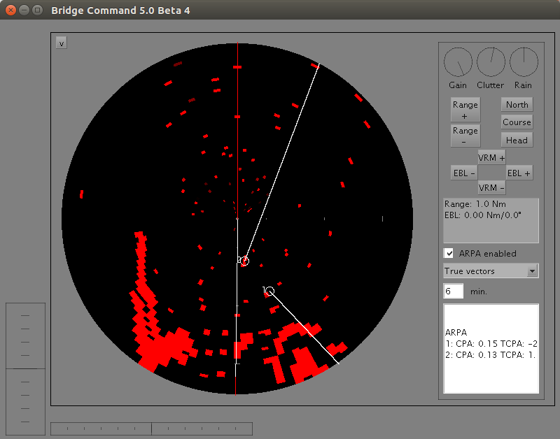Full screen radar with initial ARPA implementation
